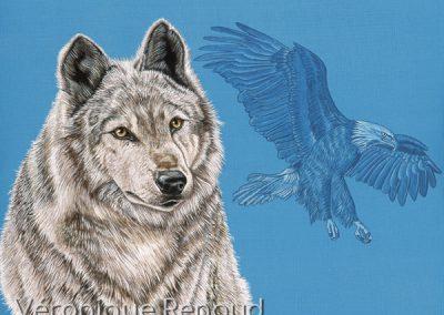 louve et aigle
